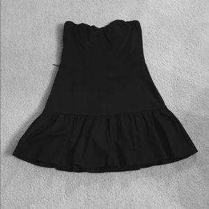 Express Design Studio Black Strapless Dress